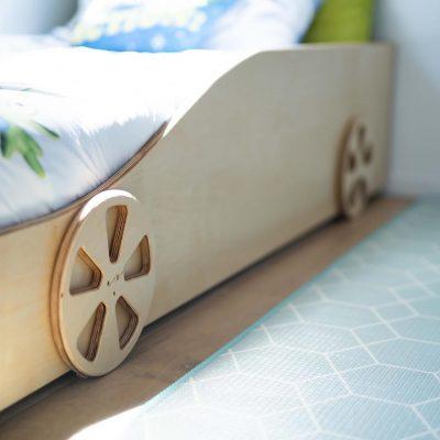 Custom built ply bed frame