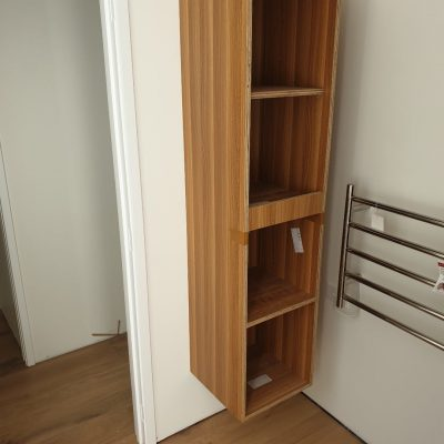 Wall mounted plywood storage cabinet