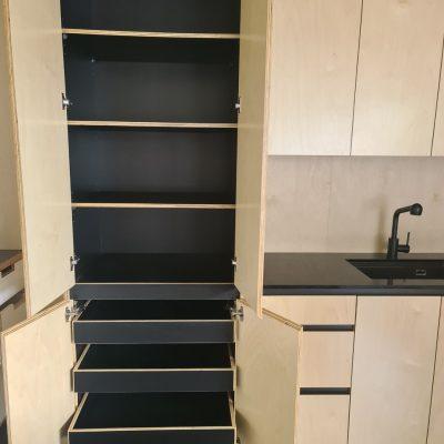 Plywood pantry